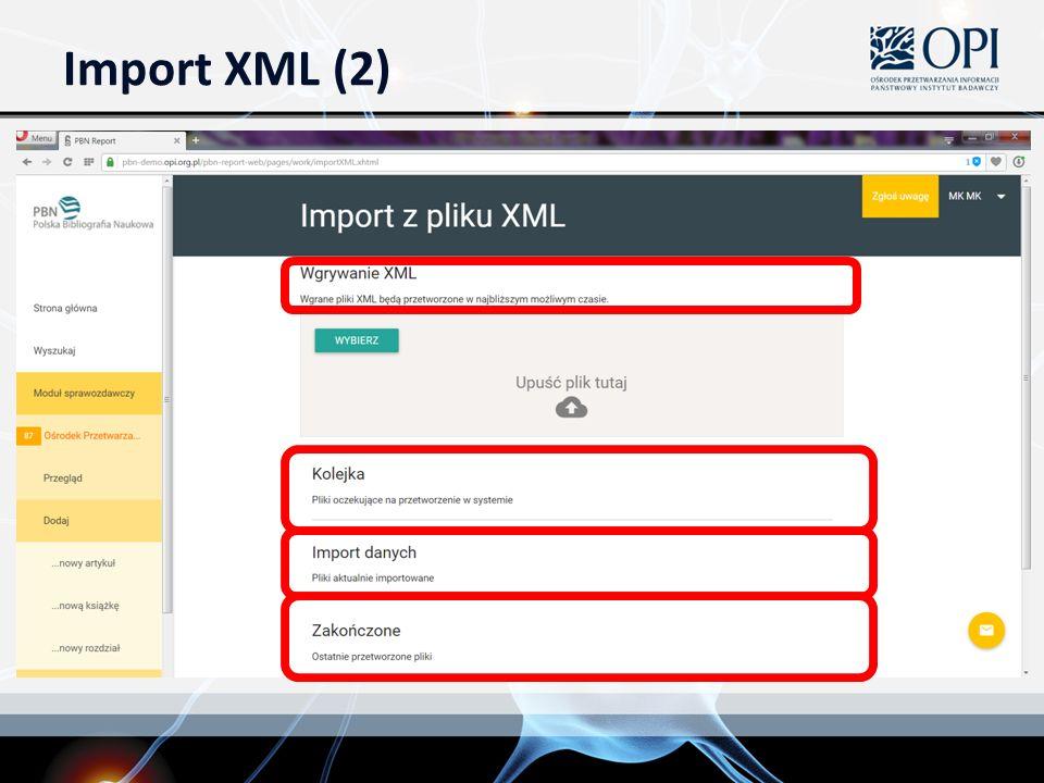 Import XML (2)