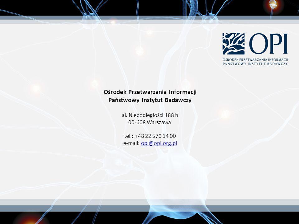 Ośrodek Przetwarzania Informacji Państwowy Instytut Badawczy al.
