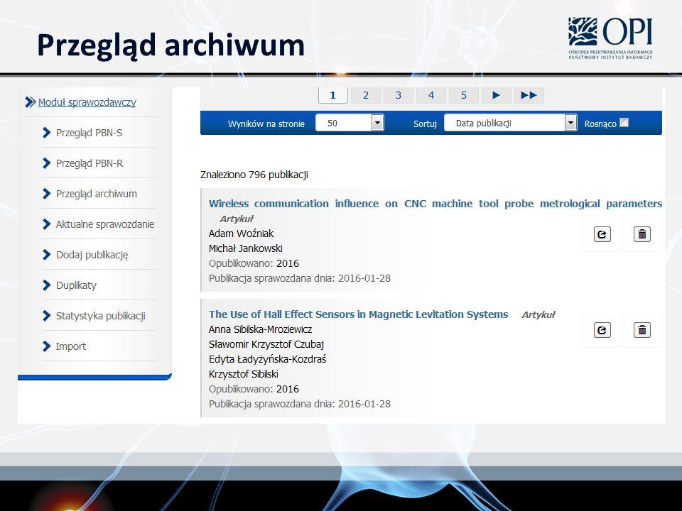 Przegląd archiwum