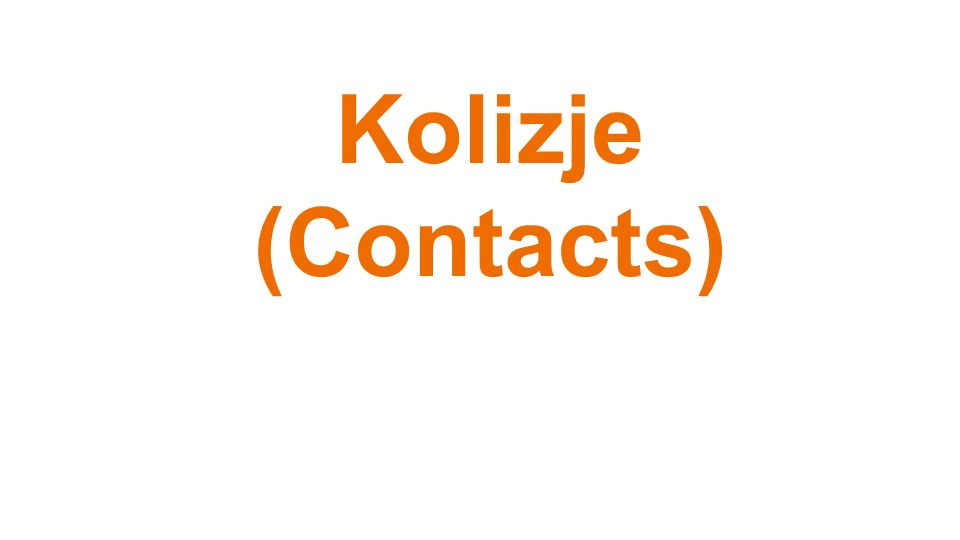 Kolizje (Contacts)