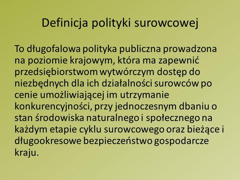 Liczba wierceń poszukiwawczych gazu łupkowego w Polsce Źródło: Raport Polityka surowcowa Polski, str.