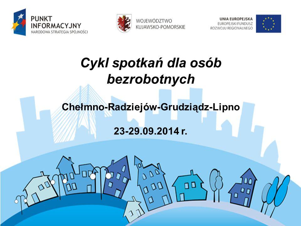 Cykl spotkań dla osób bezrobotnych Chełmno-Radziejów-Grudziądz-Lipno 23-29.09.2014 r.
