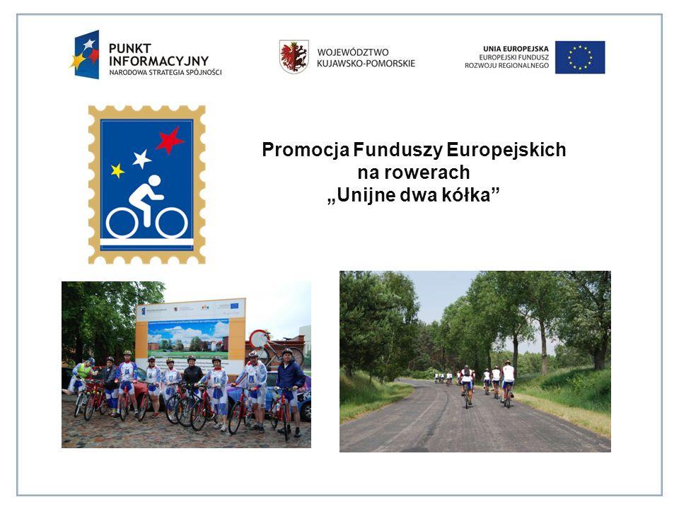 """Promocja Funduszy Europejskich na rowerach """"Unijne dwa kółka"""