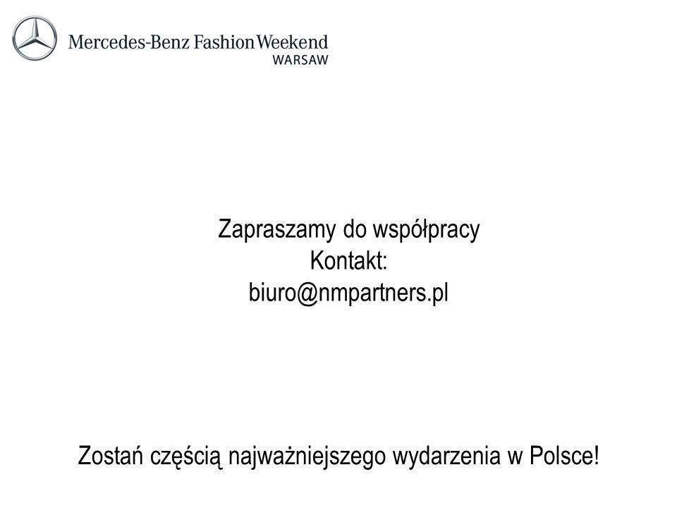 Zapraszamy do współpracy Kontakt: biuro@nmpartners.pl Zostań częścią najważniejszego wydarzenia w Polsce!