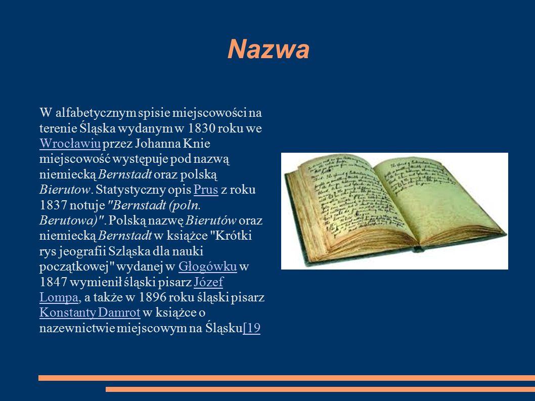 Nazwa W alfabetycznym spisie miejscowości na terenie Śląska wydanym w 1830 roku we Wrocławiu przez Johanna Knie miejscowość występuje pod nazwą niemie