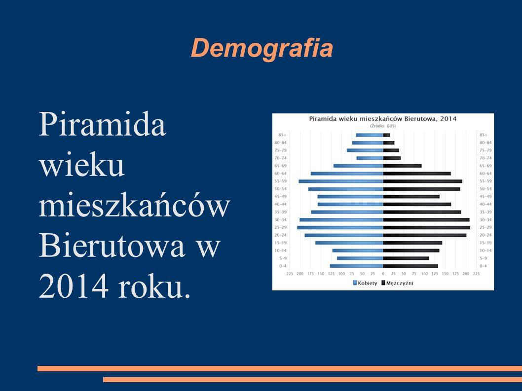 Demografia Piramida wieku mieszkańców Bierutowa w 2014 roku.