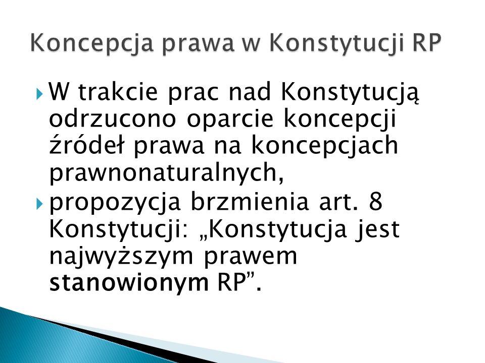  Hierarchia aktów powszechnie obowiązujących wynikająca z art.