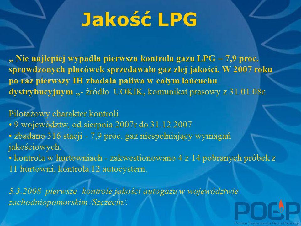 """Jakość LPG """" Nie najlepiej wypadła pierwsza kontrola gazu LPG – 7,9 proc."""