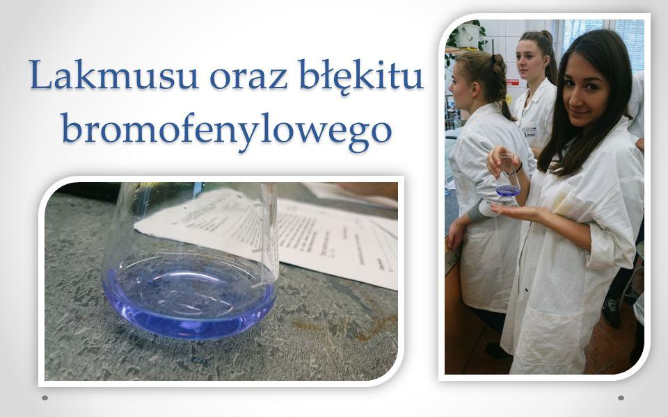 Lakmusu oraz błękitu bromofenylowego