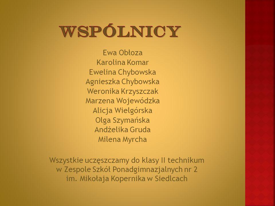 Dyrektor naczelny EWA ob ł oza Dyrektor ds.Finansowych Agnieszka Chybowska Dyrektor ds.