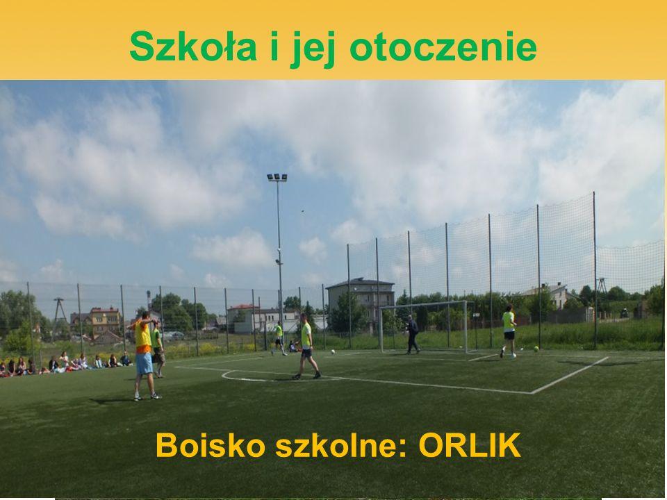 Szkoła i jej otoczenie Plac zabaw dla najmłodszych Boisko szkolne: ORLIK