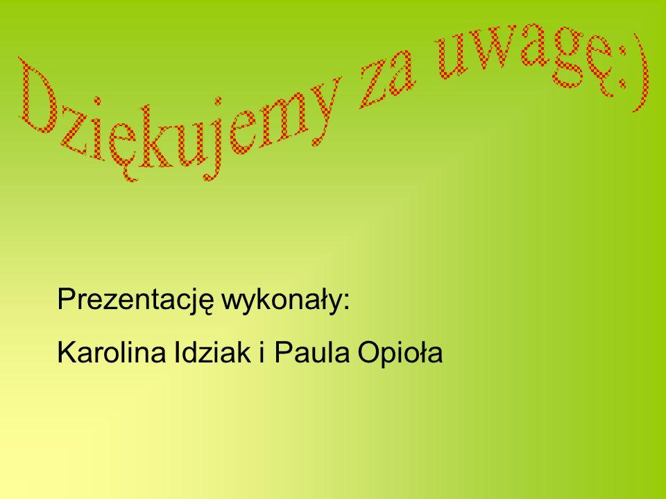 Prezentację wykonały: Karolina Idziak i Paula Opioła