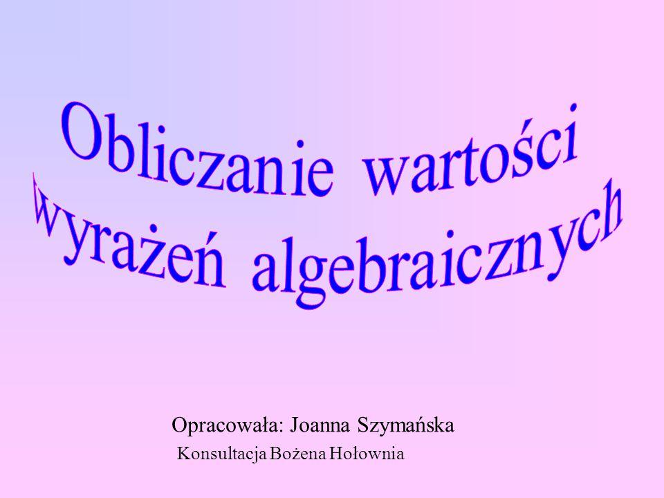 Opracowała: Joanna Szymańska Konsultacja Bożena Hołownia
