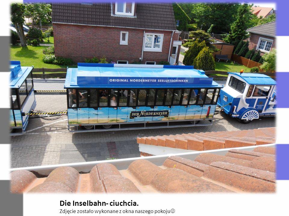 Die Inselbahn- ciuchcia. Zdjęcie zostało wykonane z okna naszego pokoju