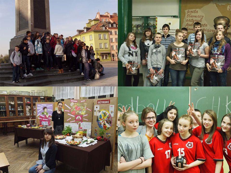 Realizujemy projekty: Rozwój zainteresowań uczniów drogą do kariery Łódź miastem wielokulturowym Nie podgrzewaj atmosfery Lepsza szkoła Bliżej Teatru Wielkiego Sesja z plusem Najlepsze jest czyste środowisko.