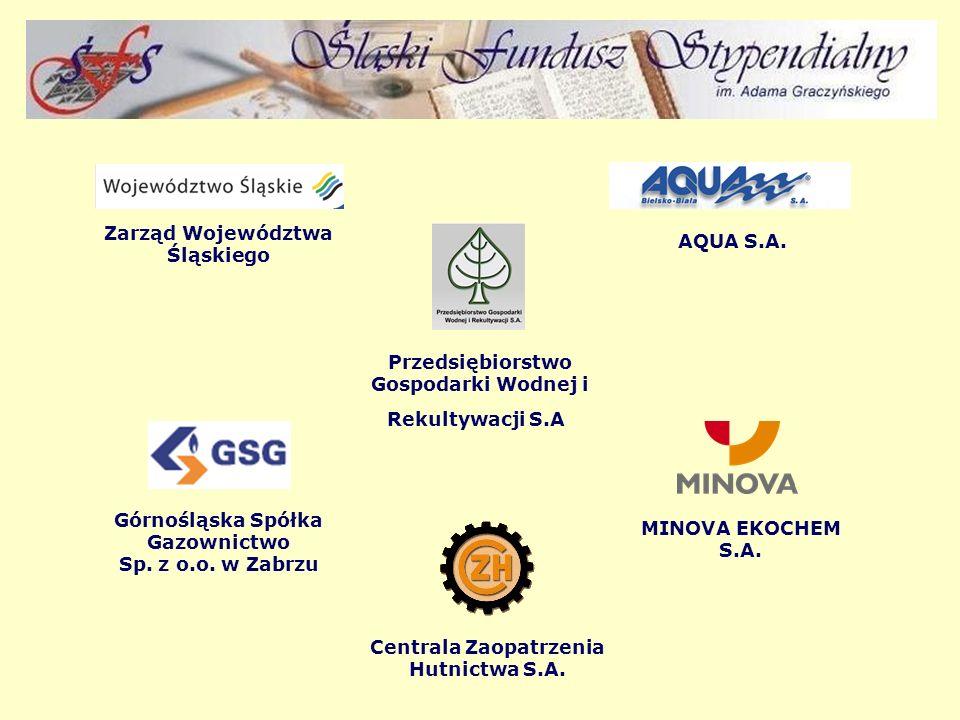 Zarząd Województwa Śląskiego AQUA S.A. Przedsiębiorstwo Gospodarki Wodnej i Rekultywacji S.A.