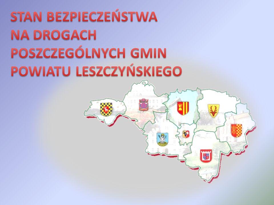 Poza przebiegającymi przez teren powiatu drogami krajowymi najbardziej zagrożonym ciągiem komunikacyjnym jest droga powiatowa P 4760 przebiegająca przez teren gmin Święciechowa i Włoszakowice, na której w I półroczu 2011 roku doszło do 29 zdarzeń drogowych oraz droga wojewódzka W 432 Leszno – Wojnowice, gdzie w omawianym okresie doszło do 24 zdarzeń drogowych w tym do 3 wypadków z ofiarami w ludziach, w których 1 osoba zginęła, a 2 osoby zostały ranne.