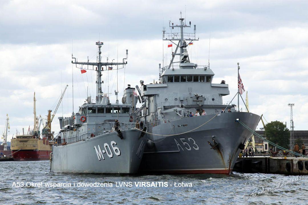 M1063 Niszczyciel min FGS BAD BEVENSEN - Niemcy M1064 Niszczyciel min FGS GROMITZ - Niemcy M1099 Niszczyciel min FGS Herten – Niemcy A514 Okręt baza FGS Wera - Niemcy A902 Okręt szkolny HNLMS VAN KINSBERGEN - Holandia M862 Niszczyciel min HNLMS ZIERIKZEE – Holandia M863 Niszczyciel min HNLMS VLAARDINGEN - Holandia M-06 Niszczyciel min LVNS TALIVALDIS - Łotwa A53 Okręt wsparcia i dowodzenia LVNS VIRSAITIS - Łotwa