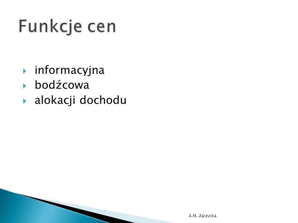  informacyjna  bodźcowa  alokacji dochodu A.M. Zarzycka
