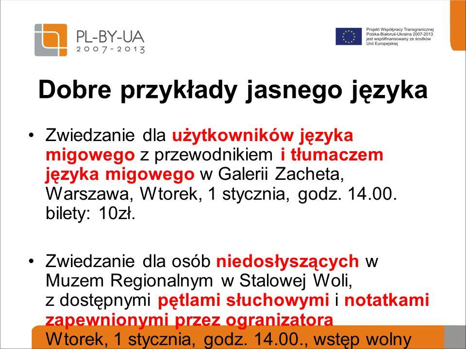 Dobre przykłady jasnego języka Zwiedzanie dla użytkowników języka migowego z przewodnikiem i tłumaczem języka migowego w Galerii Zacheta, Warszawa, Wtorek, 1 stycznia, godz.