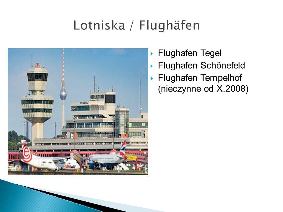  Flughafen Tegel  Flughafen Schönefeld  Flughafen Tempelhof (nieczynne od X.2008)