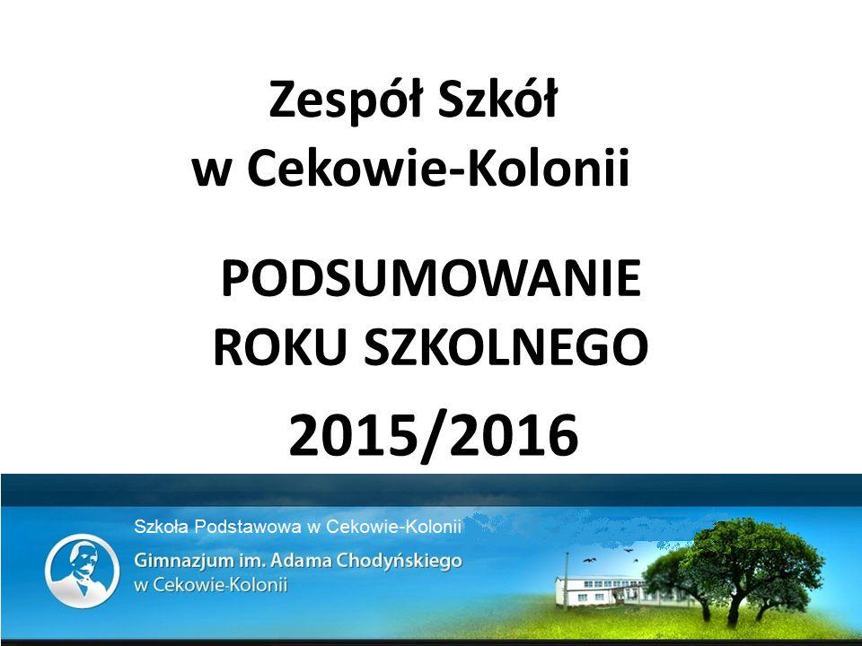 PODSUMOWANIE ROKU SZKOLNEGO 2015/2016 Zespół Szkół w Cekowie-Kolonii