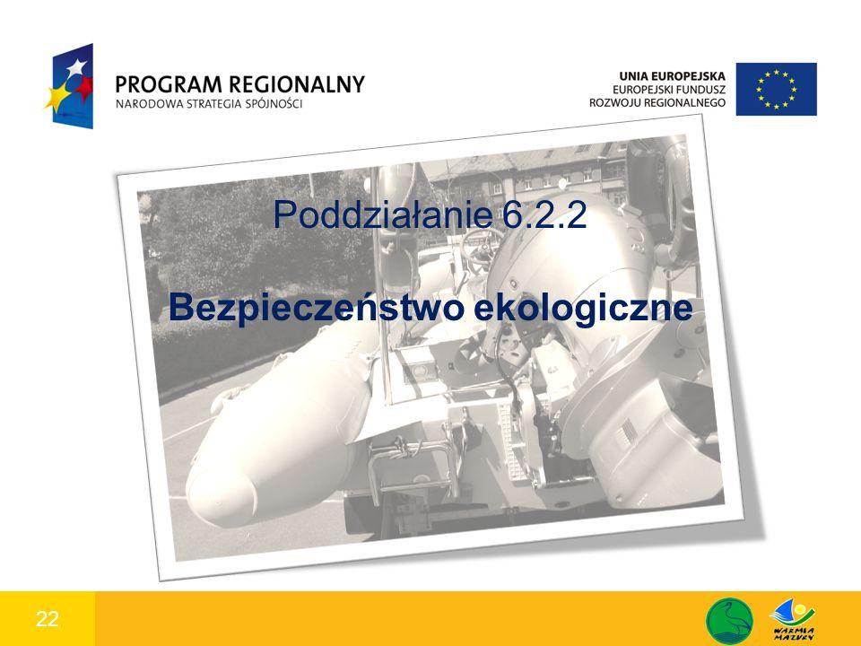 22 1 Poddziałanie 6.2.2 Bezpieczeństwo ekologiczne