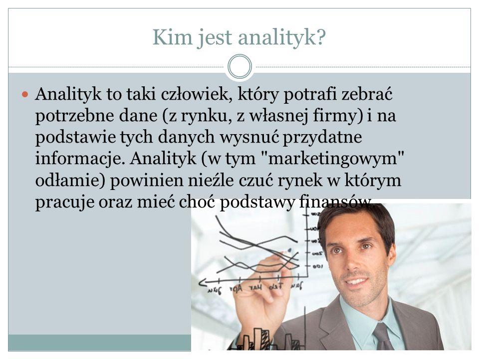 Kim jest analityk.