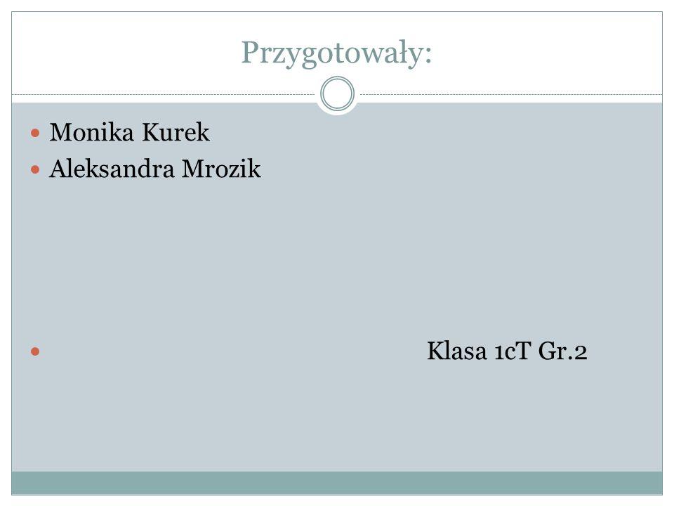 Przygotowały: Monika Kurek Aleksandra Mrozik Klasa 1cT Gr.2