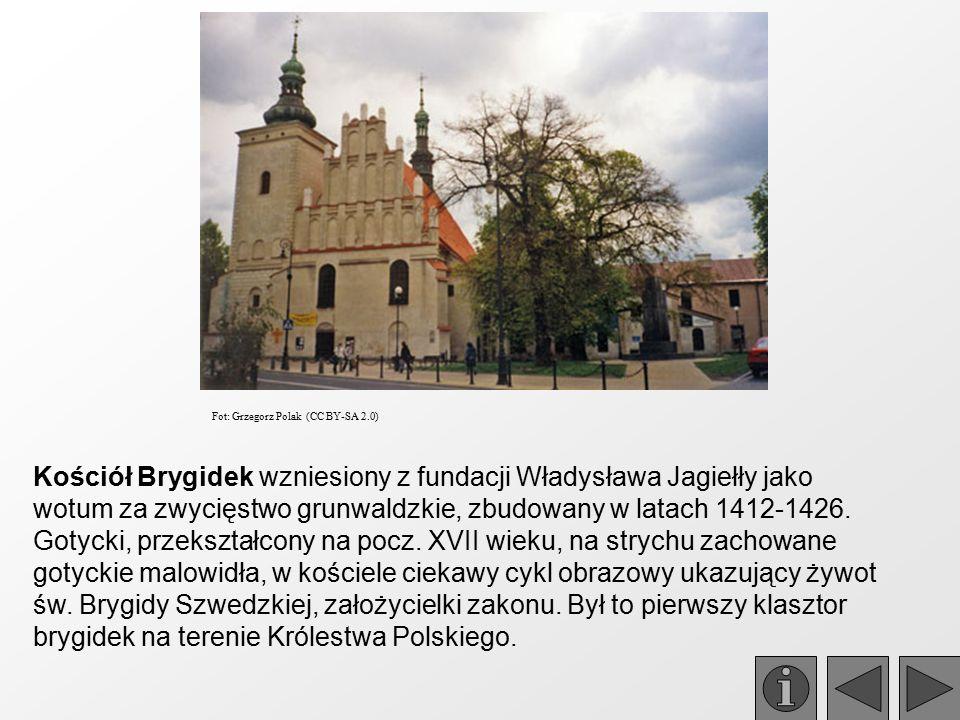 Kościół Brygidek wzniesiony z fundacji Władysława Jagiełły jako wotum za zwycięstwo grunwaldzkie, zbudowany w latach 1412-1426. Gotycki, przekształcon