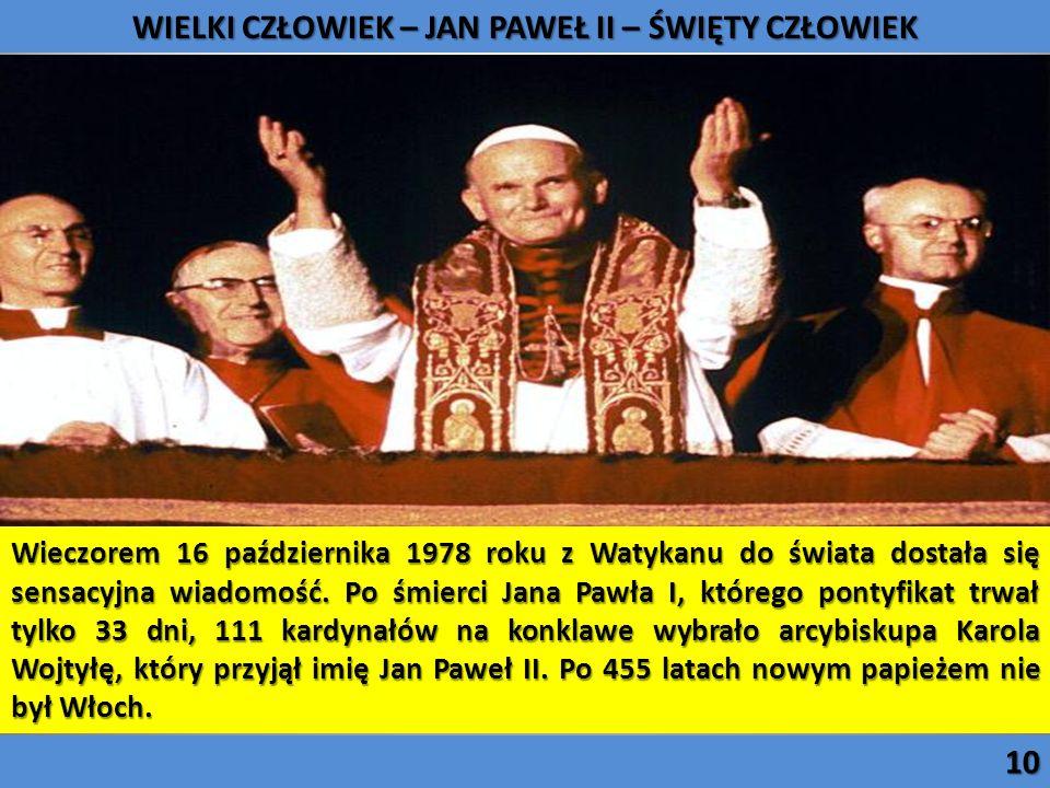Wieczorem 16 października 1978 roku z Watykanu do świata dostała się sensacyjna wiadomość. Po śmierci Jana Pawła I, którego pontyfikat trwał tylko 33