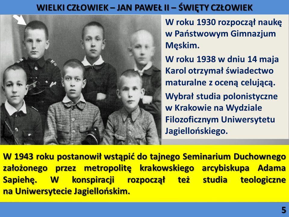 W 1943 roku postanowił wstąpić do tajnego Seminarium Duchownego założonego przez metropolitę krakowskiego arcybiskupa Adama Sapiehę. W konspiracji roz