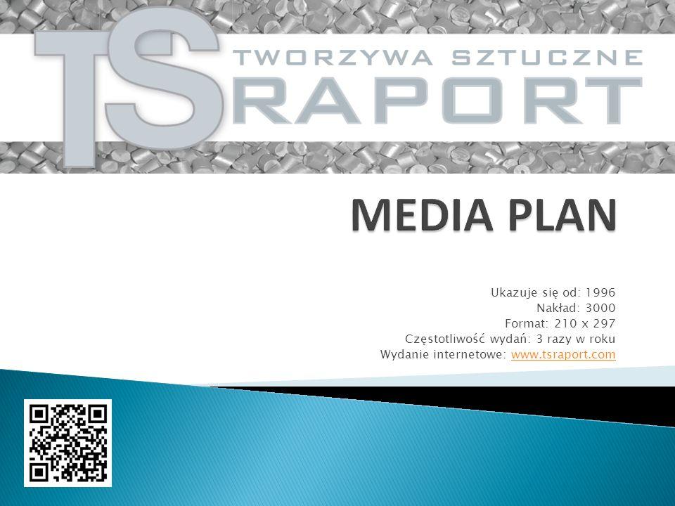 Ukazuje się od: 1996 Nakład: 3000 Format: 210 x 297 Częstotliwość wydań: 3 razy w roku Wydanie internetowe: www.tsraport.comwww.tsraport.com