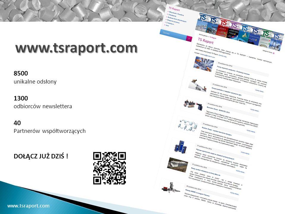 8500 unikalne odsłony 1300 odbiorców newslettera 40 Partnerów współtworzących DOŁĄCZ JUŻ DZIŚ !