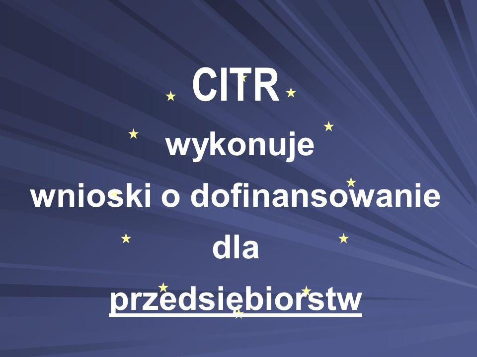 CITR wykonuje wnioski o dofinansowanie dla przedsiębiorstw