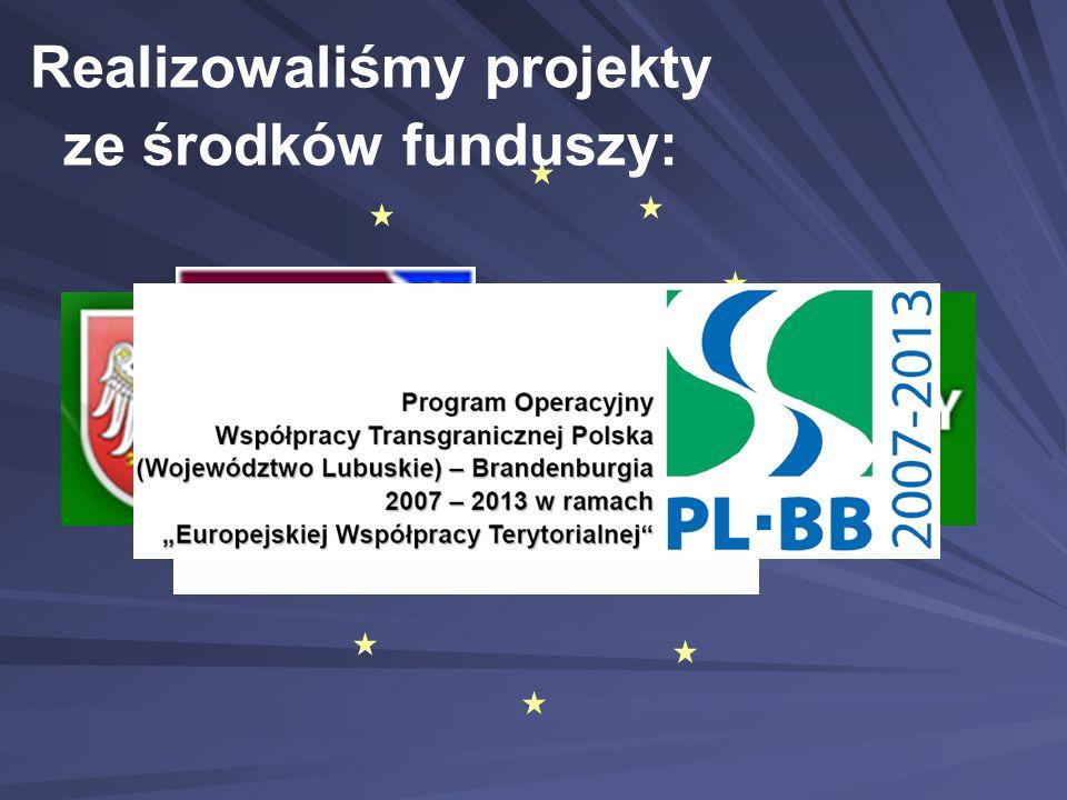 Realizowaliśmy projekty ze środków funduszy:
