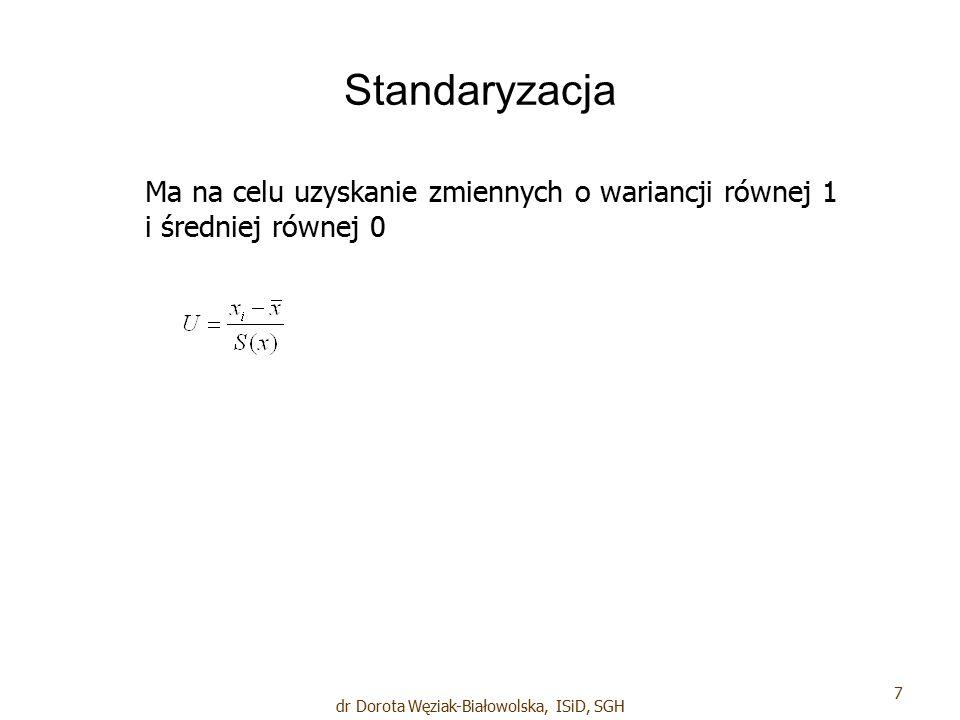 Dane: 18 dr Dorota Węziak-Białowolska, ISiD, SGH