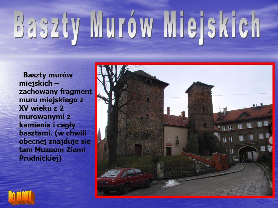 Kolumna maryjna – ufundowana w 1694 roku przez notariusza miejskiego Piotra Ortmana i jego żonę dla uczczenia ofiar dżumy w 1624 roku.