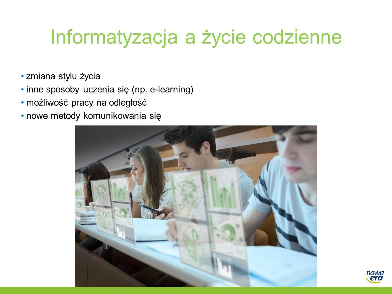 Informatyzacja a życie codzienne zmiana stylu życia inne sposoby uczenia się (np.