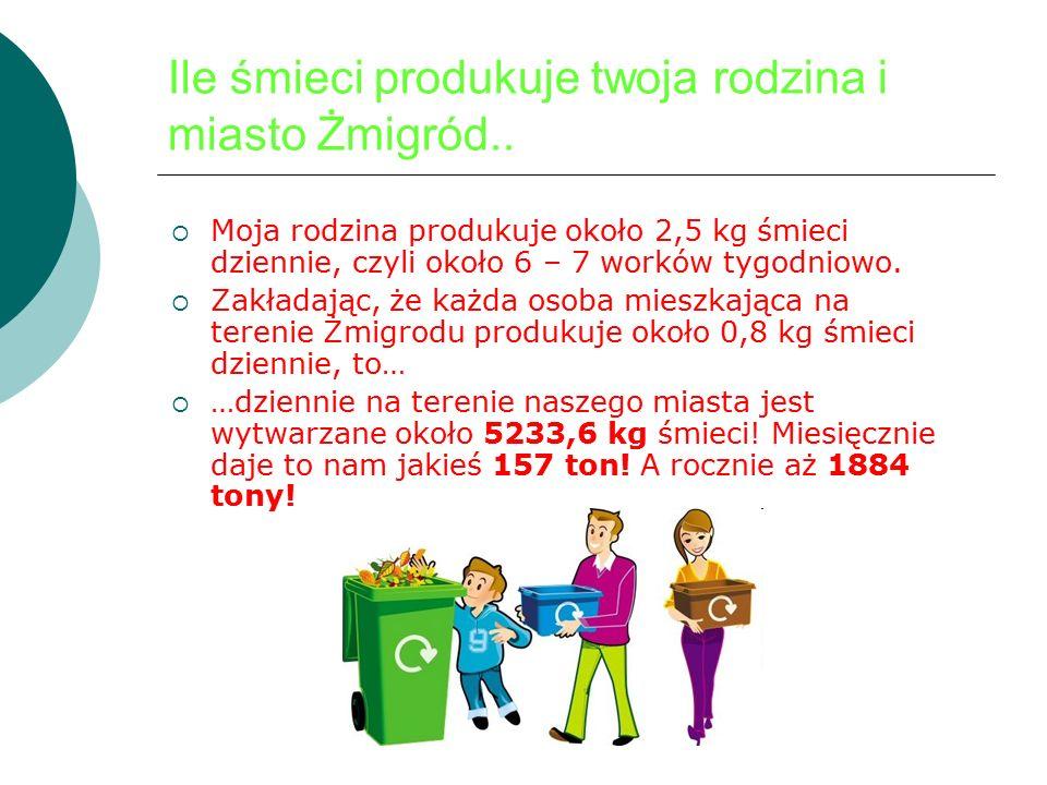 Ile śmieci produkuje twoja rodzina i miasto Żmigród..