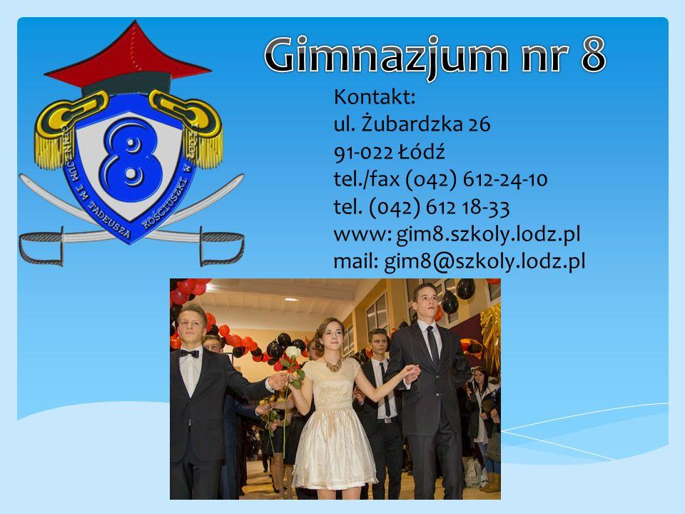 Kontakt: ul.Żubardzka 26 91-022 Łódź tel./fax (o42) 612-24-10 tel.