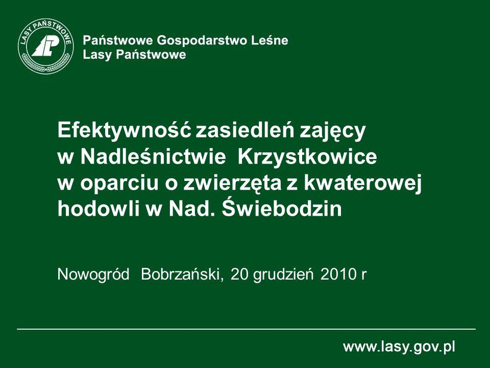 Efektywność zasiedleń zajęcy w Nadleśnictwie Krzystkowice w oparciu o zwierzęta z kwaterowej hodowli w Nad.
