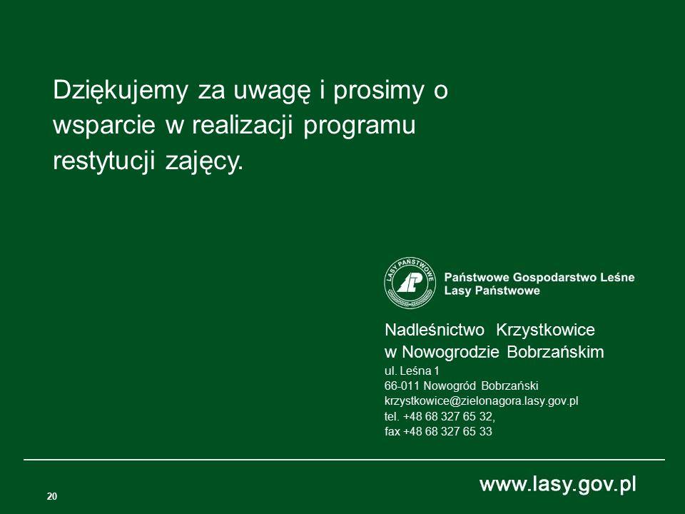 20 Nadleśnictwo Krzystkowice w Nowogrodzie Bobrzańskim ul.