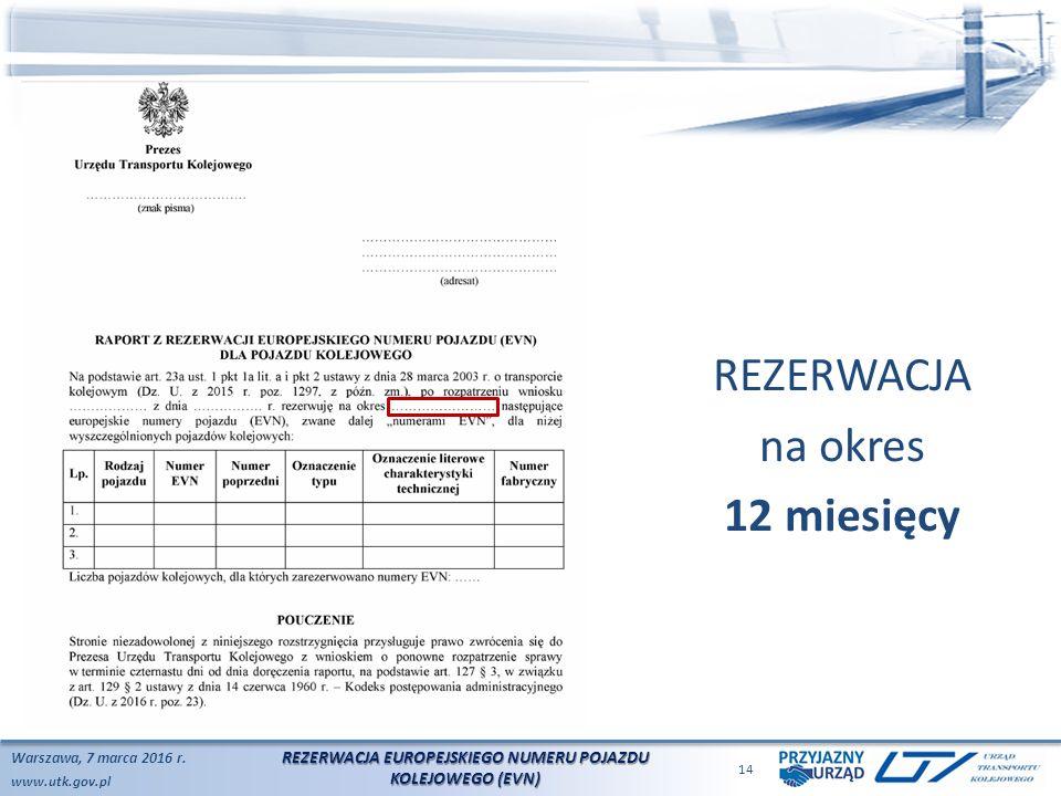 www.utk.gov.pl Warszawa, 7 marca 2016 r.