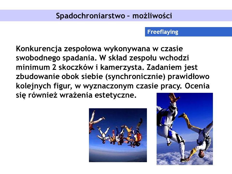 Spadochroniarstwo – możliwości Freeflaying Konkurencja zespołowa wykonywana w czasie swobodnego spadania.