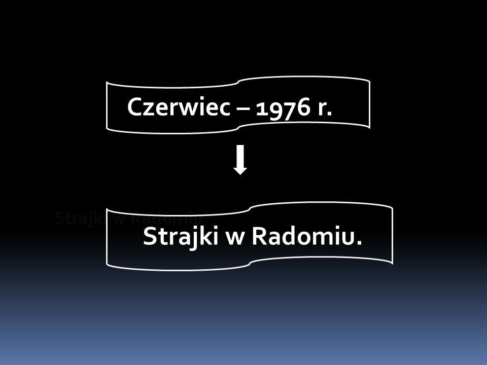 Strajki w Radomiu Strajki w Radomiu. Czerwiec – 1976 r.