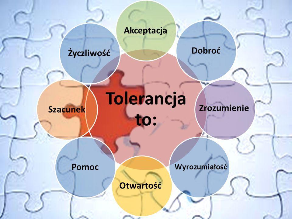  Tolerancja - szanowanie odmiennych poglądów, wierzeń, upodobań  Równość- zasada polegająca na jednakowym traktowaniu członków obu płci oraz na nada