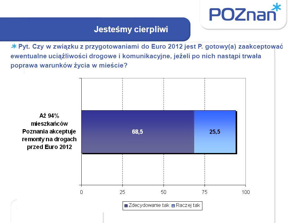 Jesteśmy cierpliwi Pyt. Czy w związku z przygotowaniami do Euro 2012 jest P.