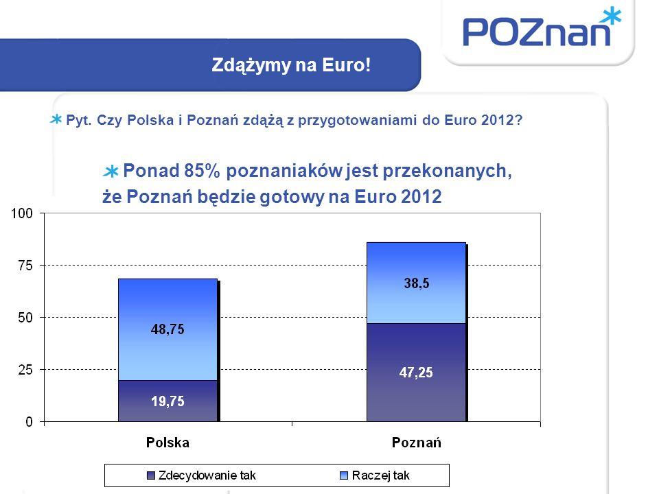 Zdążymy na Euro. Pyt. Czy Polska i Poznań zdążą z przygotowaniami do Euro 2012.