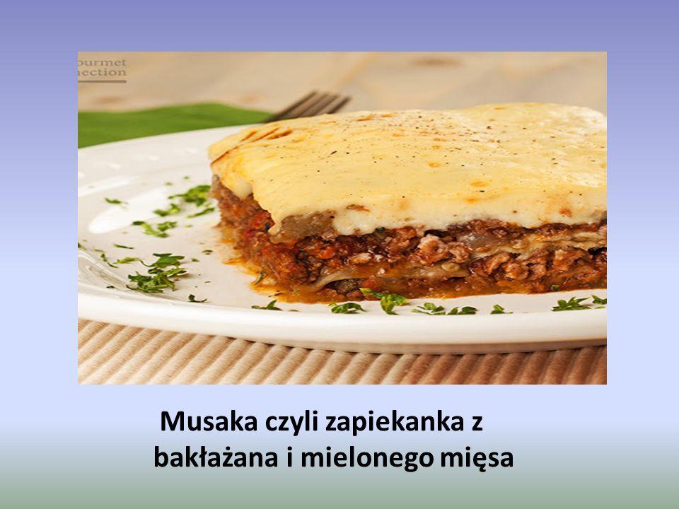 Musaka czyli zapiekanka z bakłażana i mielonego mięsa